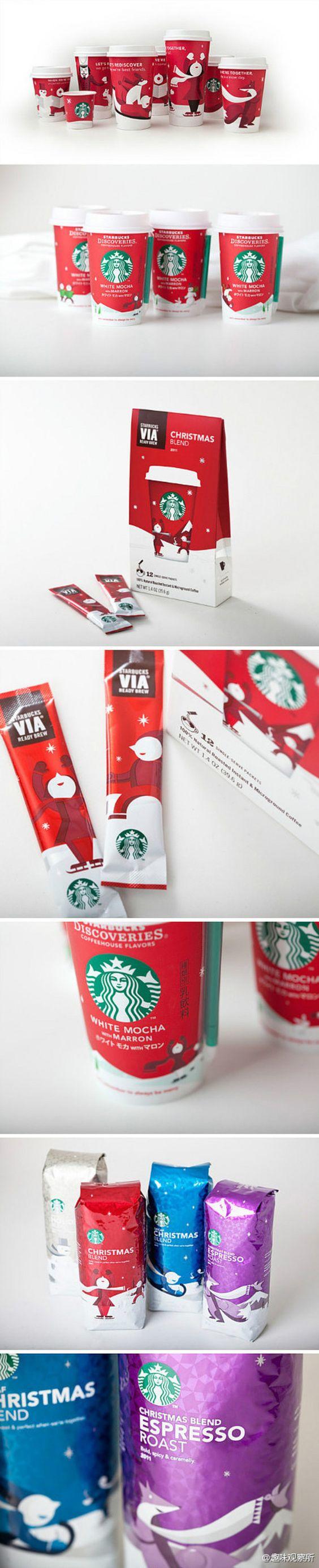 【星巴克圣诞特别包装】位于西雅图的星巴克...