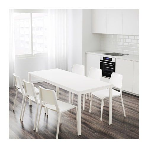 Vangsta Table Extensible Blanc 120 180x75 Cm Table A Manger