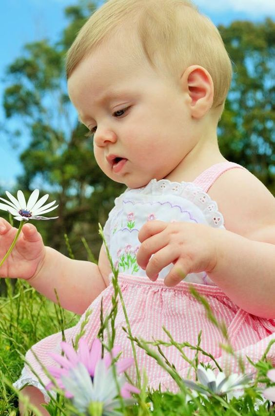 It's spring. Baby photography