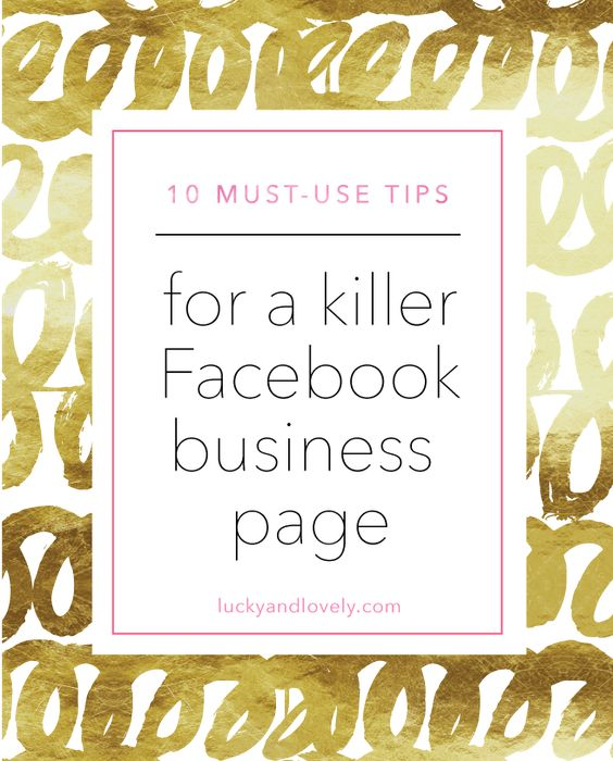 10 Must use tips for a killer facebook business page!