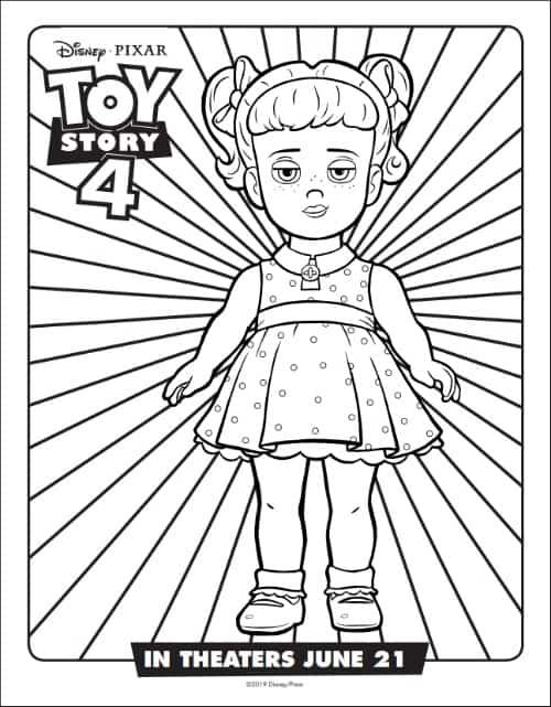Gabby Gabby From Toy Story Coloring Page Toy Story Coloring