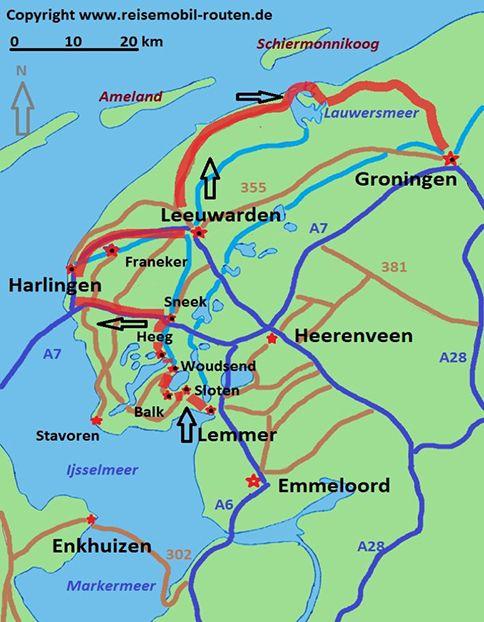 Niederlande Route 1 Reizvolles Friesland Auf Reisemobil Routen