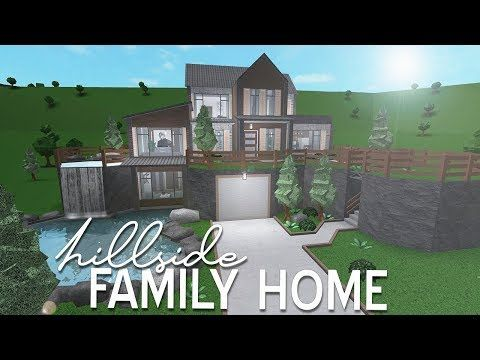 Roblox Bloxburg Hillside Family Home 96k Youtube Hillside