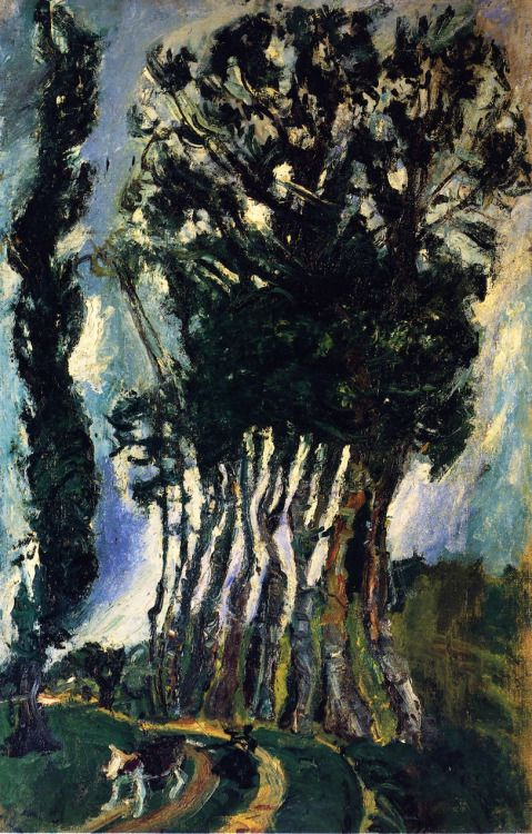 Chaim Soutine - Champigny Landscape c.1943:
