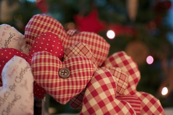 corona de corazones navidad patchwork navidad