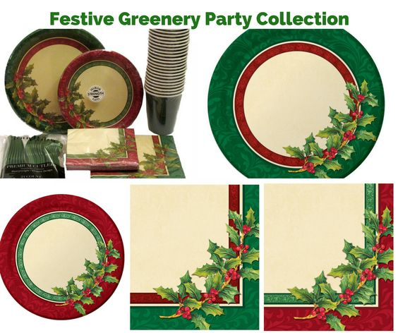 Festive Greenery Party Banner