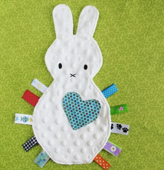 Bunny Tag Blanket Lovey Toy Free U S Shipping Toys