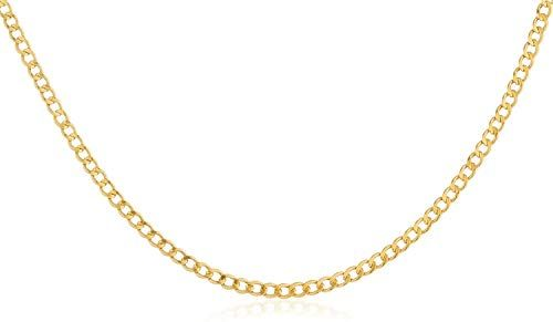 Amazing Offer On 10k Gold 2 0mm Cuban Curb Link Chain Necklace Multiple Lengths Available Made In Italy Yellow White Rose Online Favoritetopfashion Solid Gold Chains Cuban Chain Pearl Bridal Jewelry