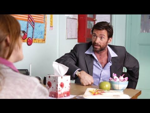 Watch this funny video from YouTube called Hugh Jackman's Teacher Interview: http://www.youtube.com/watch?v=fipSEmdj3i0