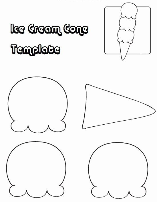 Icecream Cone Coloring Page Elegant Ice Cram Cone Template