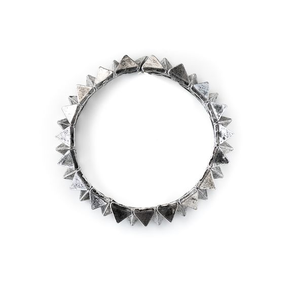 Shut Up I Love This - Birds Of A Feather Silver Multi Spike Bracelet