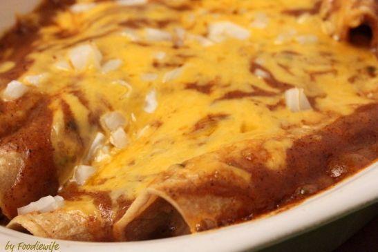 TexMex Cheese & Onion Enchiladas w/Chili Gravy