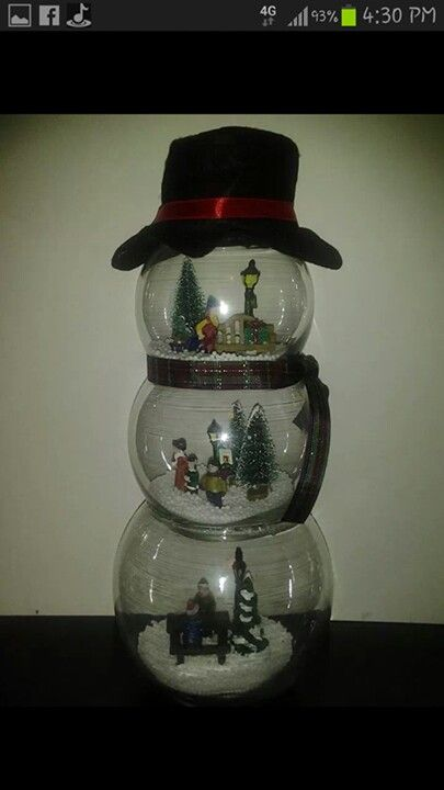 Fish bowl snowman christmas crafts pinterest bowls for Fish bowl craft