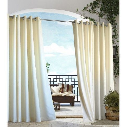 The Outdoor Decor Gazebo Solid Indoor Outdoor Grommet Top Window Panel Creates Privacy Shade And Co Indoor Outdoor Curtains Outdoor Panels Outdoor Patio Decor