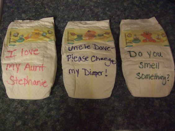 diaper writing activity