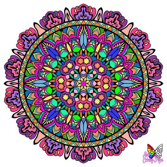 Mandala Colorbynumber For Grown Ups Free And Printable Star Coloring Pages Mandala Coloring Pages Coloring Pages