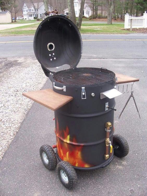 Faire Un Barbecue Avec Un Baril En 5 Etapes Faire Un Barbecue Idee De Barbecue Meubles En Tonneau