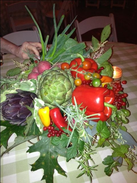 Fall vegetable arrangement