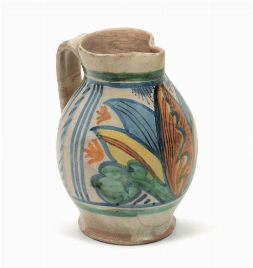 Area Ceramica Civita Castellana.Boccale Officina Laziale Probabile Area Civita Castellana Fine Xv Inizio Xvi Secolo Castellana Officina Porcellana Antica