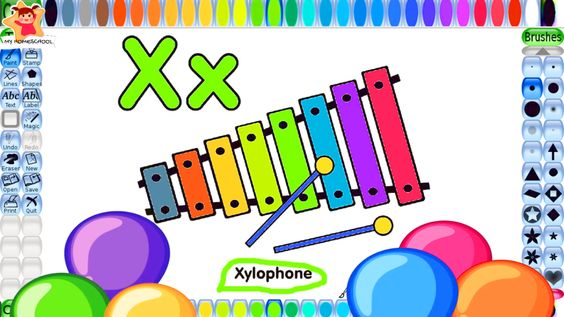 Xylophone Coloring Book For Children Is A Musical Instruments Coloring Pages For Kids That Teaches Them About Abc Printin Abc Print Abc Coloring Coloring Pages