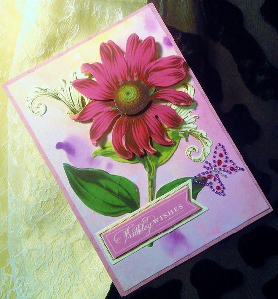 Birthday Handmade Card Anna Griffin Die Cut Embellishments Inspired 472 #Handmade #BirthdayChild