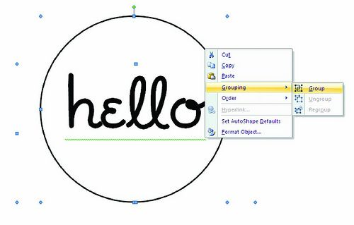 Creating a Circle as a Frame for a Sentiment in Microsoft Word - tutorial by @Susan Caron Caron Caron Opel