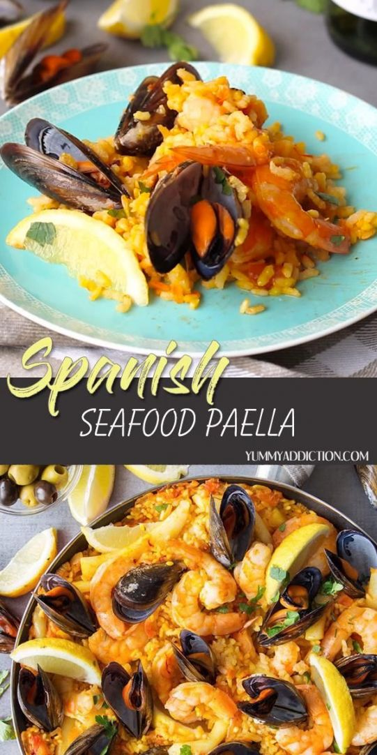 One Of The Most Famous Mediterranean Dishes This Spanish Seafood Paella Will Blow Your Mind A Crusty Saffron Flavored Rice And Vegetable La