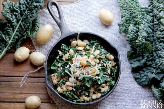 Potato, Kale, and White Bean Hash (Gluten-Free and Vegan) from Beard & Bonnet