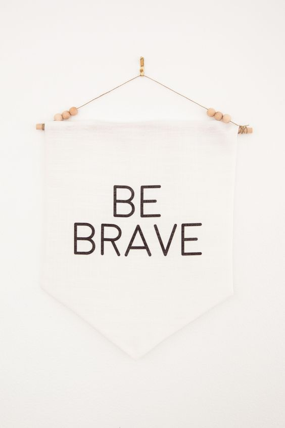 Be Brave Wall Pennant | Home Decor Banner | Inspirational Gift | Nursery Wall Pennant | Child's Room Decor | Boho Design | Natural Courage