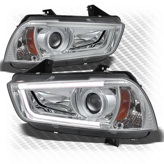 For (HID Only) 11-14 Charger Daytime Running Light-Tube-DRL Pro Headlights