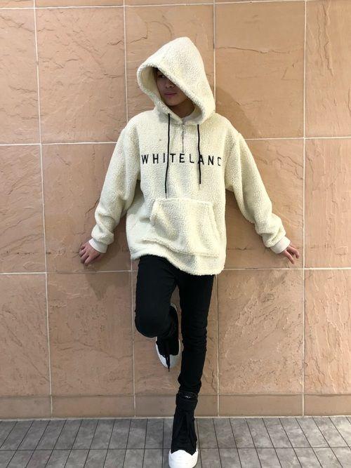 アライトモヤ lhp 池袋店 whiteland blackburnのパーカーを使ったコーディネート wear パーカー アノラック ファッション