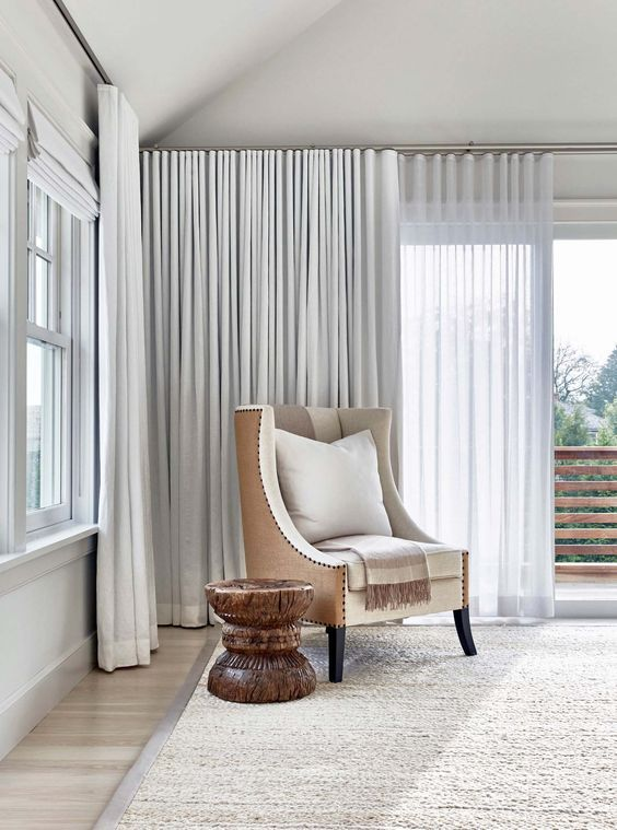 Two Layer Ripplefold Drapery In Shades Of White Love Curtains