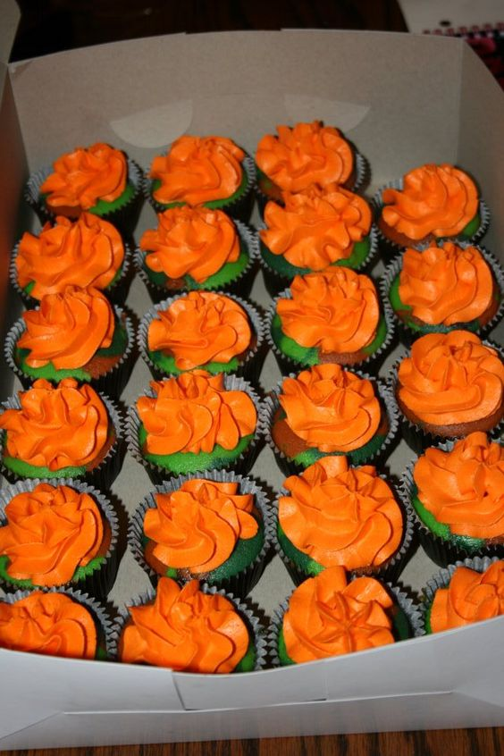 Camo Cupcakes we made for Jayden's 1st birthday!