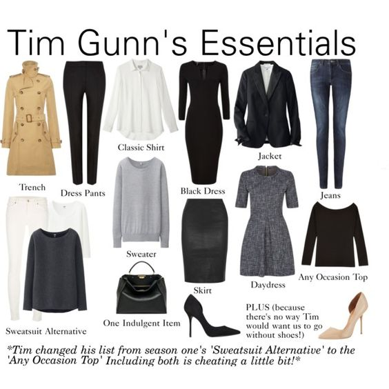 Tim Gunn's Essentials by charlotte-mcfarlane on Polyvore featuring Uniqlo, Polo Ralph Lauren, Jigsaw, Diane Von Furstenberg, 7 For All Mankind, Kurt Geiger and Fendi