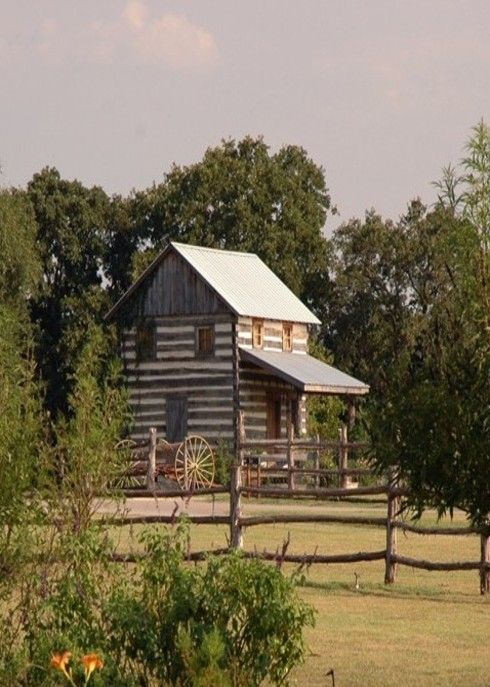 Cabin Farm House And Logs On Pinterest