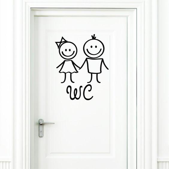 wandtattoo loft wc aufkleber mann und frau in schwarz t raufkleber badezimmer toilette. Black Bedroom Furniture Sets. Home Design Ideas
