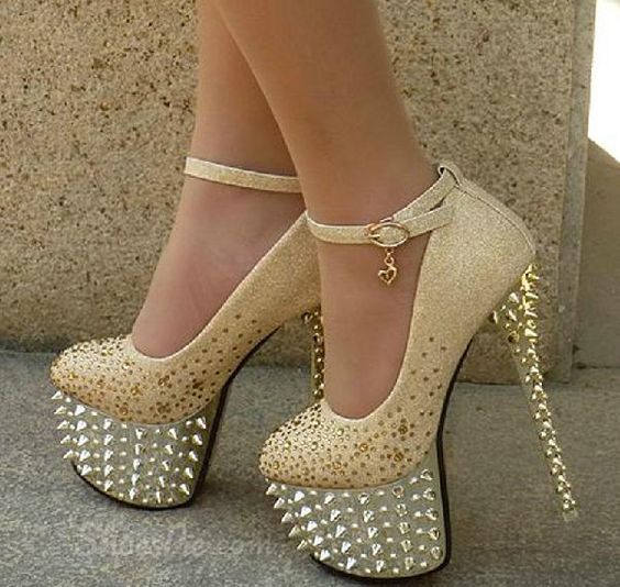 Sparkle Platform Stiletto Heels Bridal Shoes | Sexy, Follow me and ...