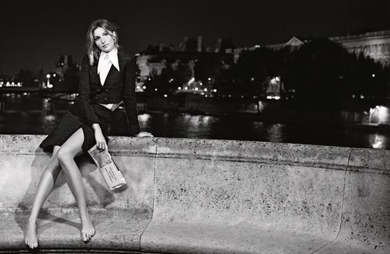 Gisele Bundchen - (black and white) Chanel S/S 2015 campaign for Karl Lagerfeld in Paris, 2015 (1)