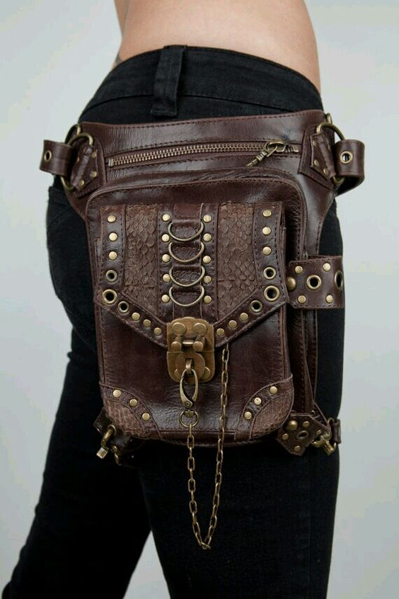 Steampunk holster purse