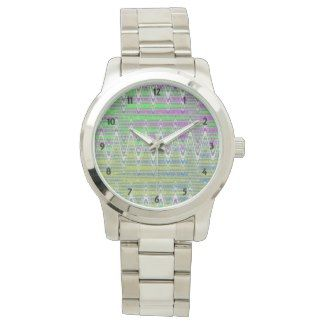 Stylish watch Colorful pattern design. Many bands available #zazzle #watches #jewelry #gifts