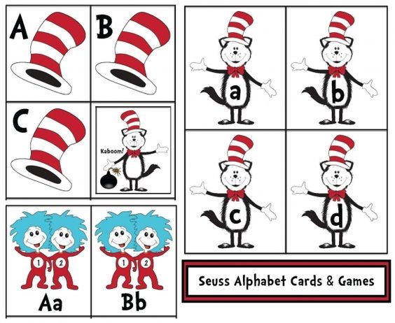 Dr. Seuss activities: FREE printables: Dr. Seuss Alphabet Cards and Games