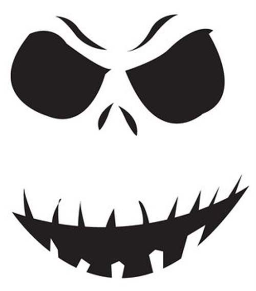 Jack skellington printable pumpkin stencil d would look