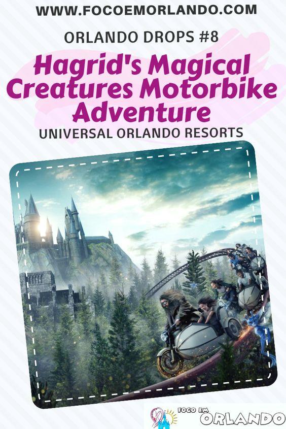 A Hagrid's Magical Creatures Motorbike Adventure é uma das novidades de Orlando para 2019