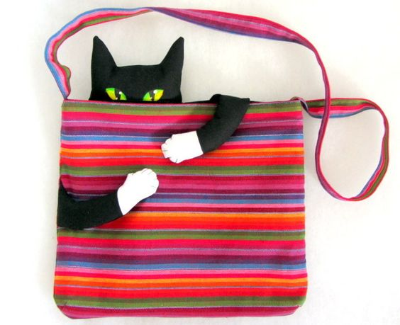 "Schultertasche ""Cat in the Bag"" von CaTsablanca auf DaWanda.com"