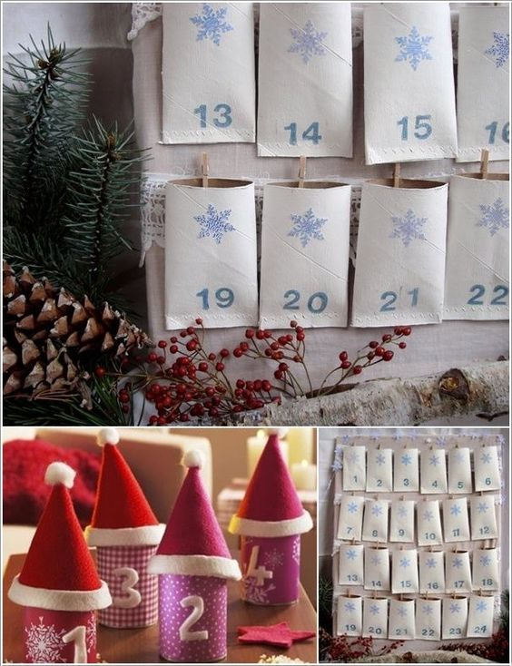 Paper Roll Advent Calendar
