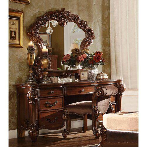 Mackay Upholstered Standard Bed Bedroom Vanity Set Dressing Table Set Bedroom Vanity