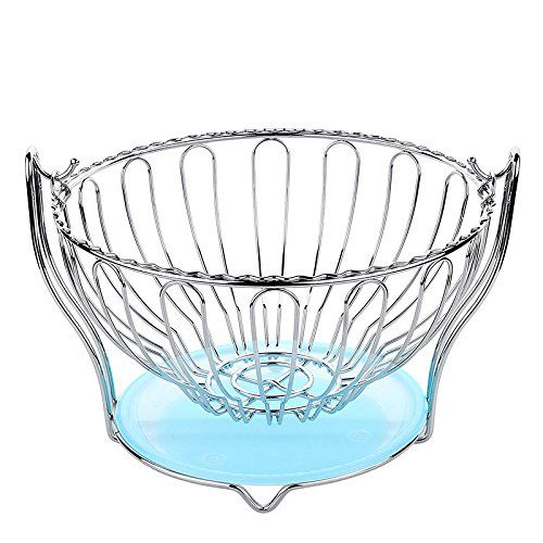 Xxh Creative Round Swing Stainless Steel Fruit Basket Durable