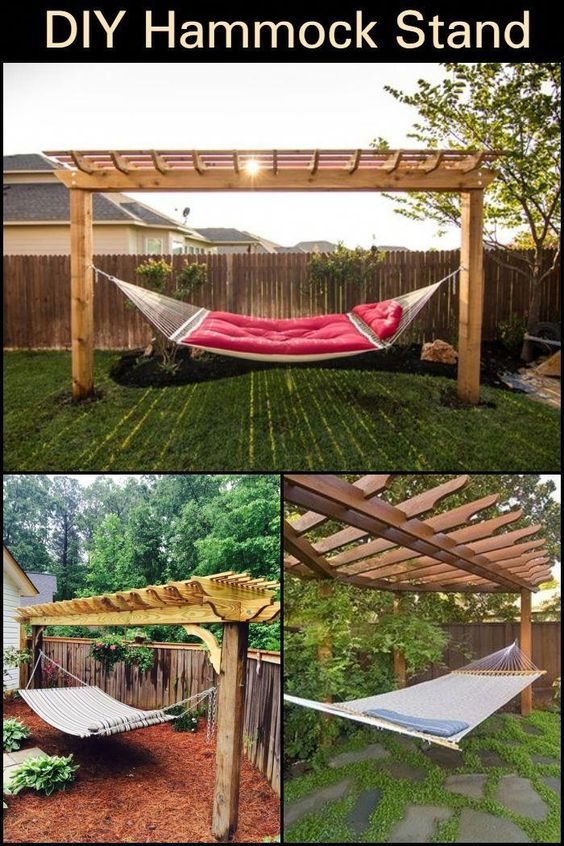 Photo of Relax in your yard even without trees with this DIY hammock stand!