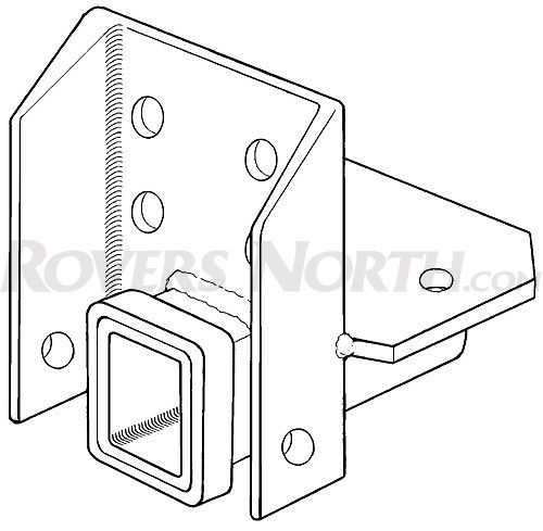 Classic Land Rover Parts: RECEIVER HITCH SERIES III MILITARY CH, RNA086