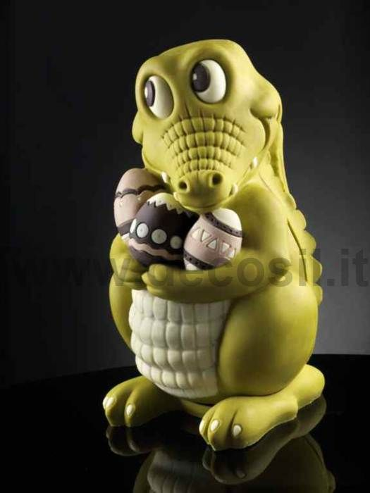 Big Chocolate Mould Egg Crocodile, Moulds for Easter decorations  #chocolate #easter buy now the mould on www.decosil.eu